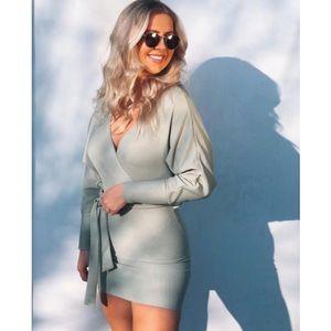 Ribbed Mini Dress